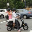couple riding scooter together,love pictures