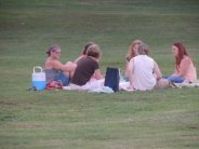 people sitting together on grass,pictures-photos-images