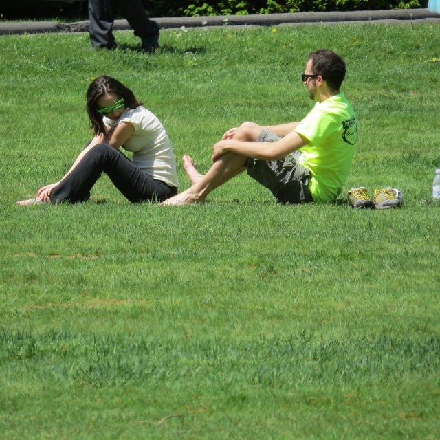 couple playing on lawn,in park-pictures