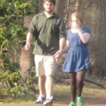 young couple walking hand in hand,amazing picture