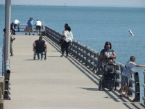 people on the pier,west haven-images