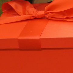 red gift box for gifts