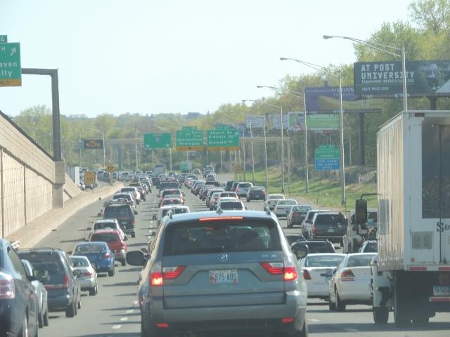 bumper to bumper traffic hartford,photos