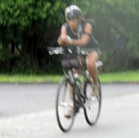 african american woman cyclist,photo