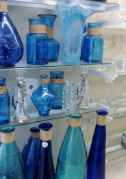 blue decorative bottles,gifts
