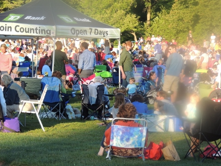 family concerts in park,display love