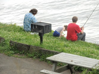 family fishing together, retirement