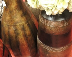 Floor display vases for housewarming gifts