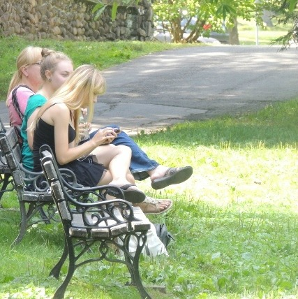 friends on bench together,display of love