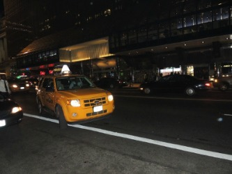 nyc cab at night,gift from nyc