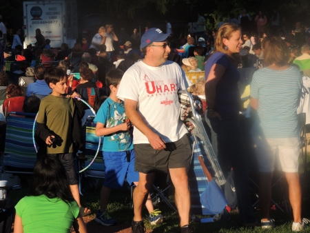 people at concert in park,images