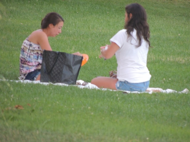two women having picnic together,love pic